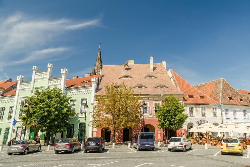The Small Square In Sibiu stock photo