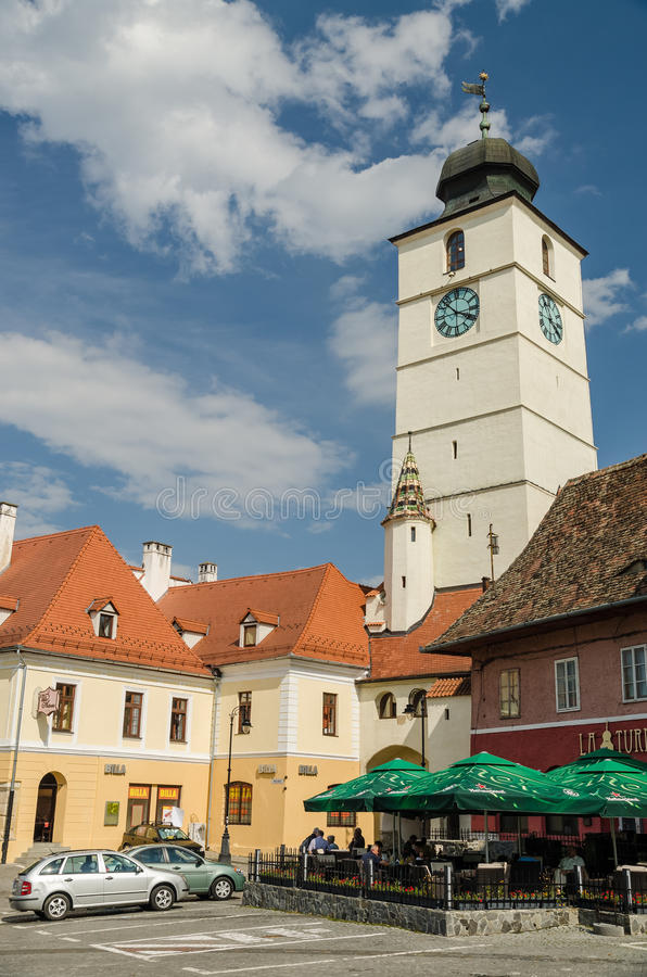 The Small Square Of Sibiu royalty free stock images