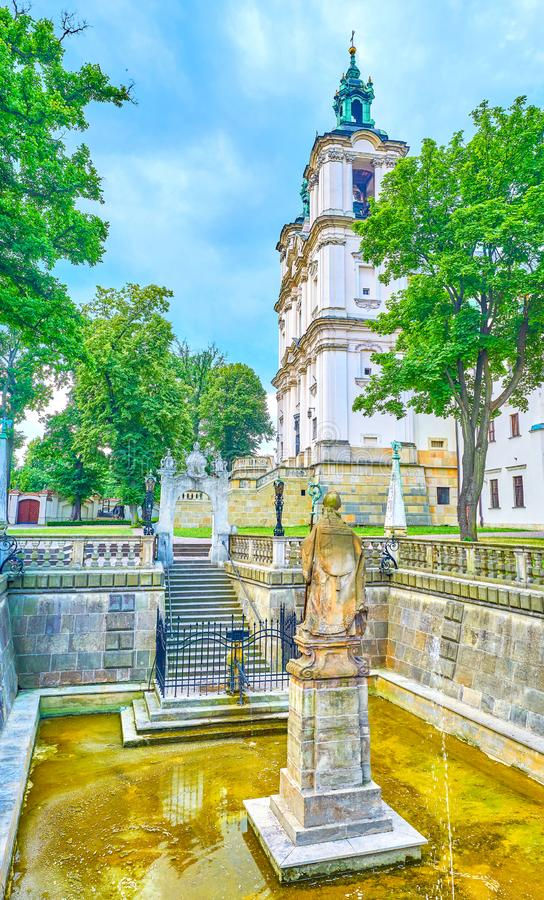 The St Stanislaus pool with Holy Spring, Krakow, Poland royalty free stock photos