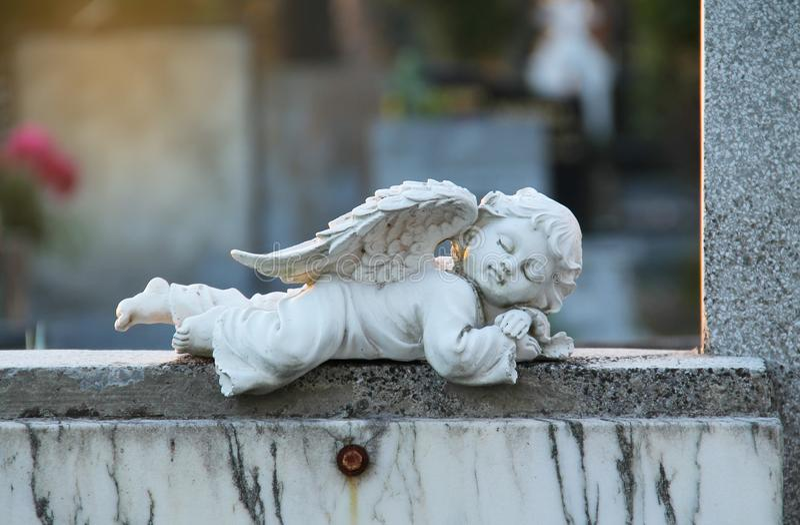 Sleeping angel stock photos