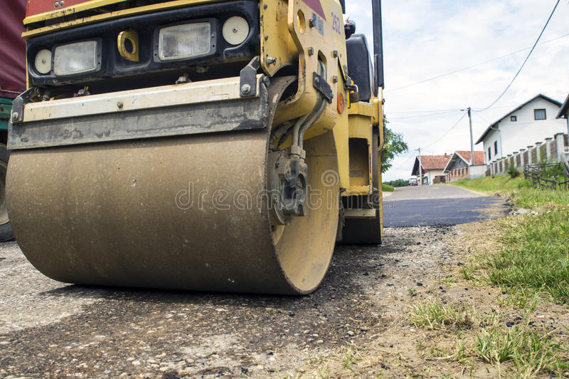 Small steamroller royalty free stock photography