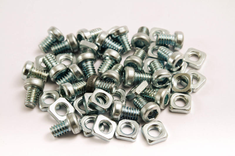 Download Small steel nuts and bolts stock image. Image of jumble - 28865401