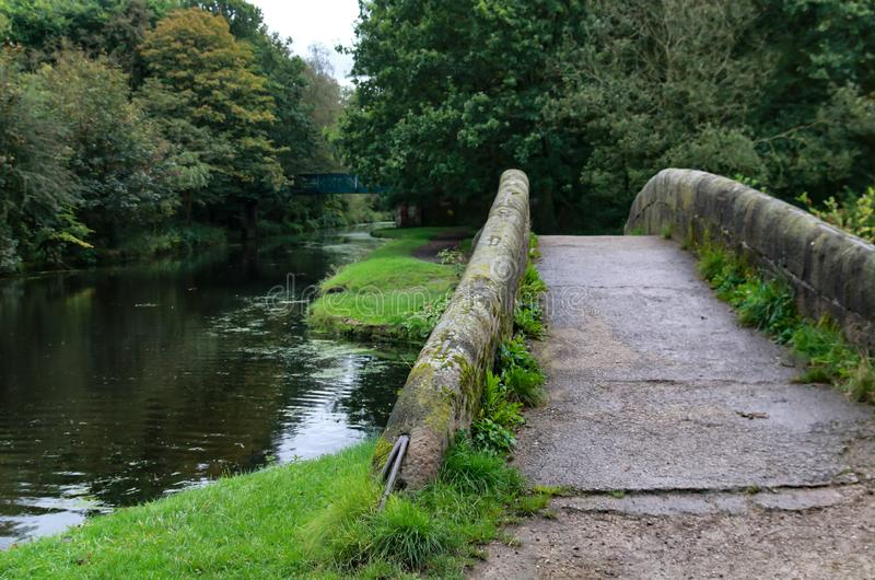 Small stone bridge royalty free stock image