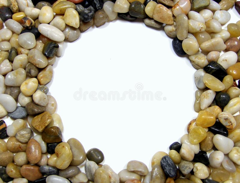 Small stones with space for copy stock image
