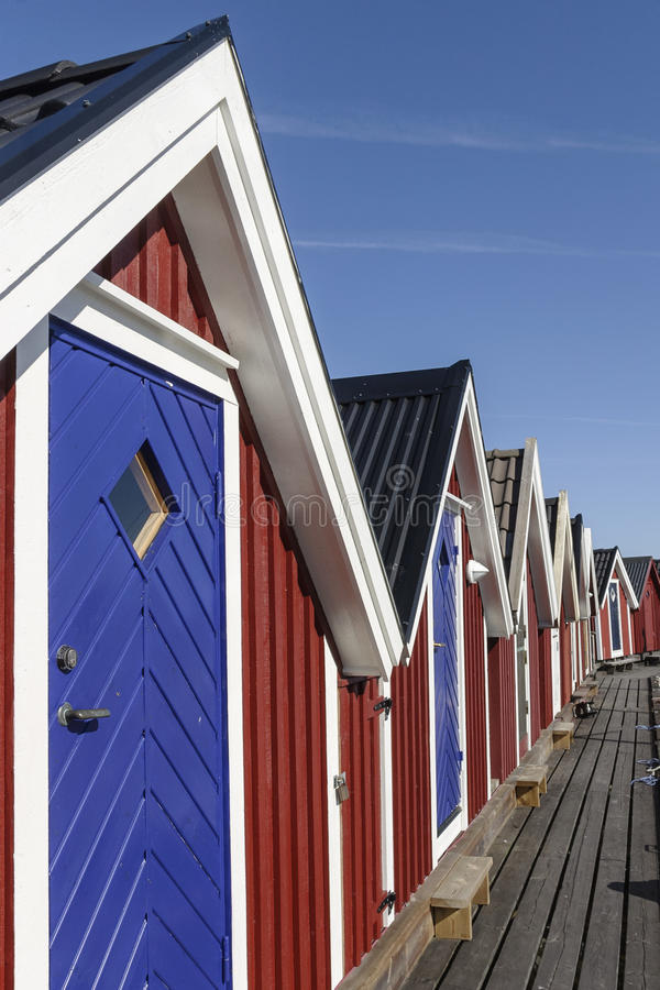 Small storage hut royalty free stock photos