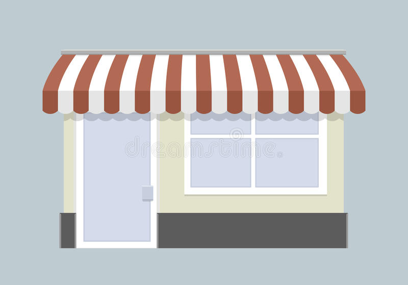 Small store front stock illustration
