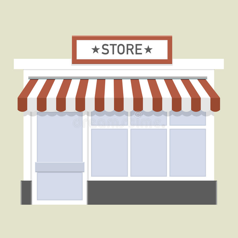 Small store front royalty free illustration