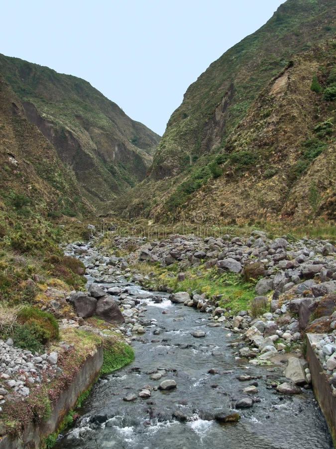 Download Small stream at the Azores stock image. Image of outside - 32169291