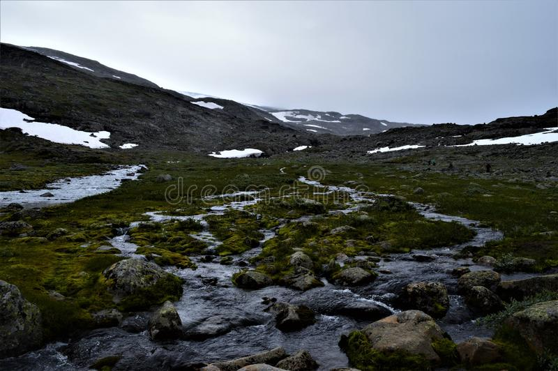 Small stream in Norway stock image