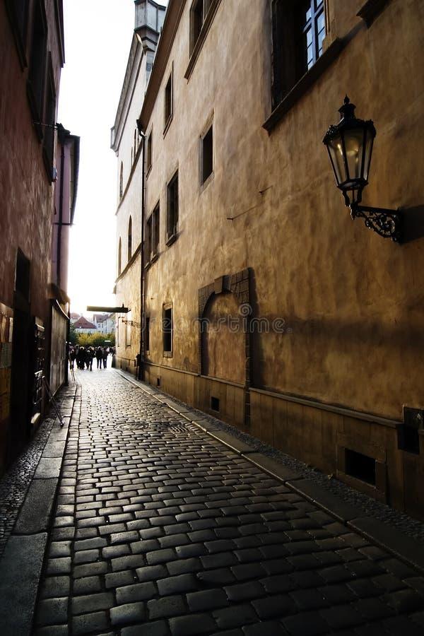 Small Street. A small street in Prague, Czech Republic stock photo