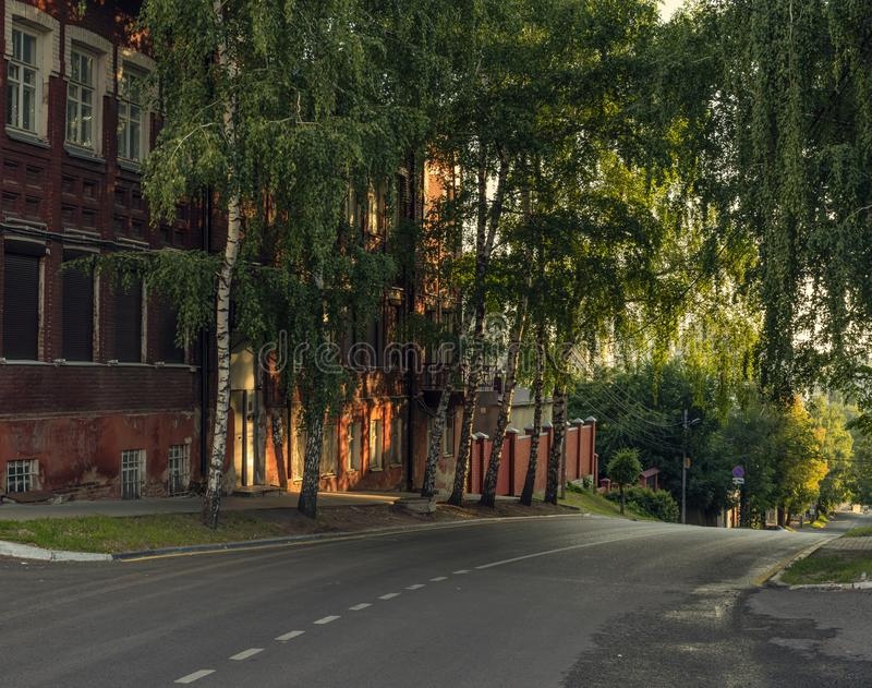 A small street in city. stock photography