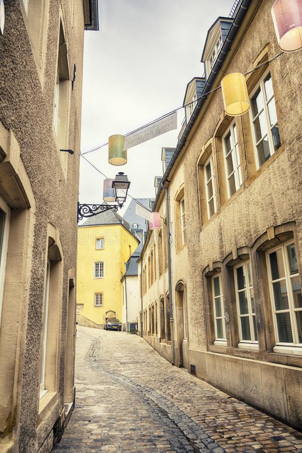 Small street of Luxembourg royalty free stock photography