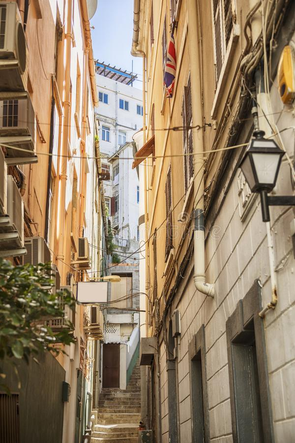 Small street in Gibraltar royalty free stock photo