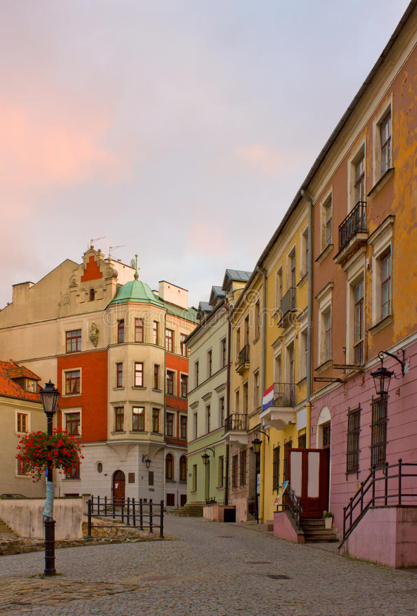 Download Small Street In Lublin, Poland Stock Photo - Image: 23652212