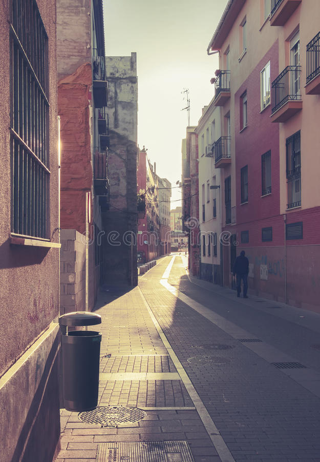 Small street in Malaga, Spain stock image