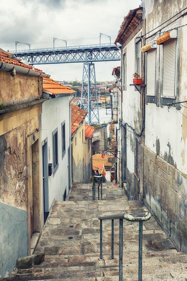 Small street in Porto, Portugal stock image