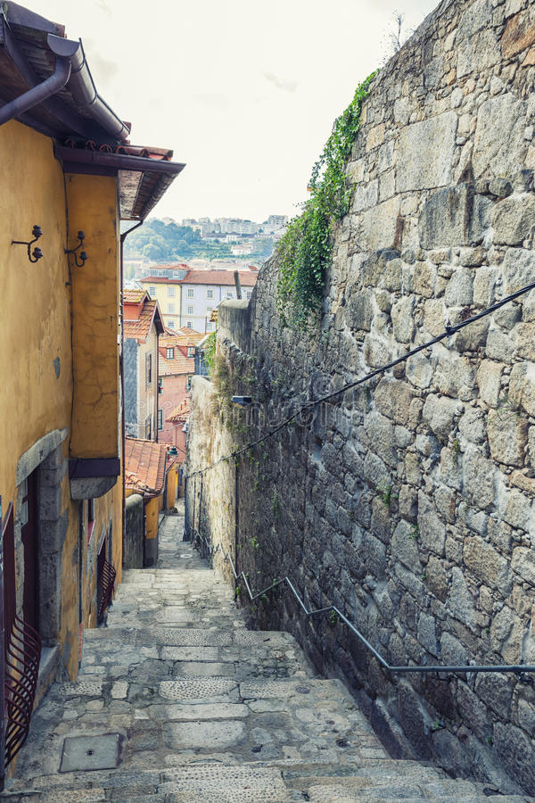 Small street in Porto, Portugal stock images