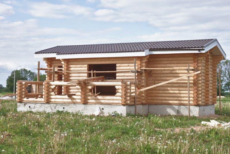 Small Suburban House Under Construction Stock Image