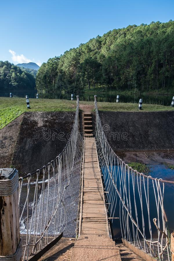 Small suspension bridge stock images