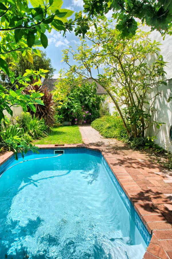 Small Swimming Pool And Garden Stock Photo Image 30983152
