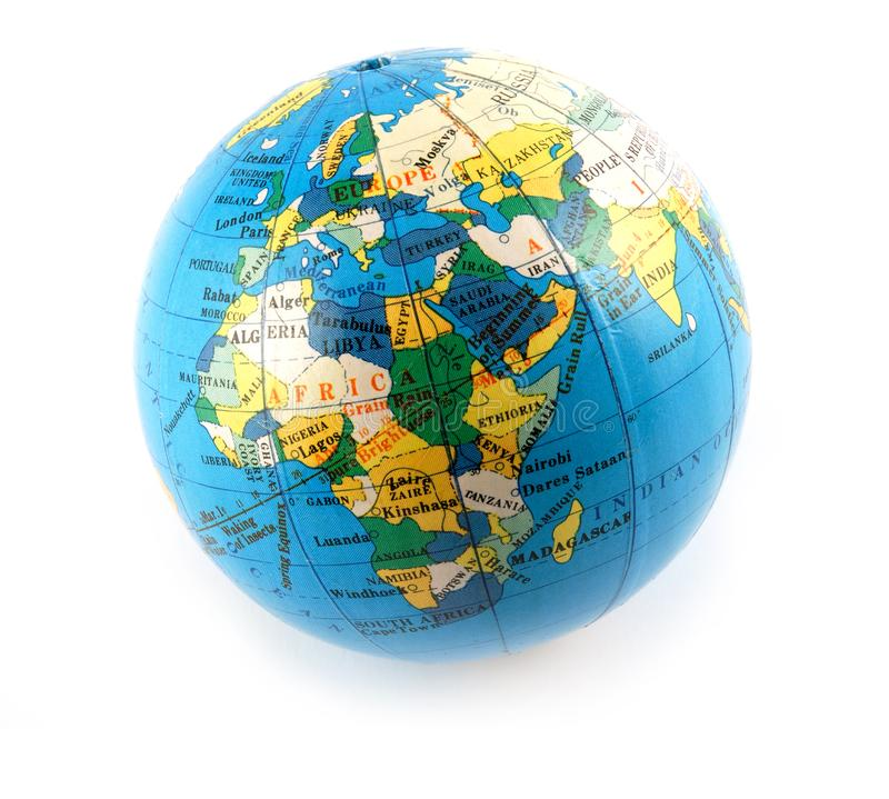 Small terrestrial globe royalty free stock photography
