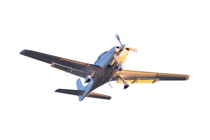 Download Small Tourist Plane Isolated Stock Photo - Image: 38955290