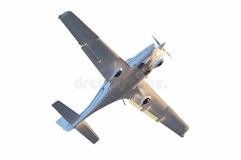 Small Tourist Plane Isolated. Stock Photo