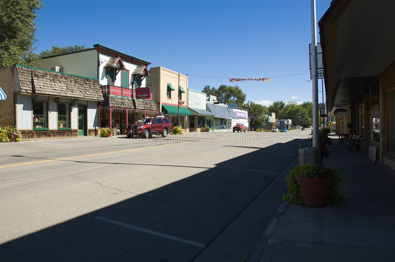 Small Town stock photo