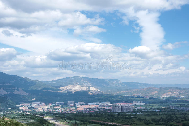 Download Small town stock photo. Image of town, white, city, cloud - 26419356