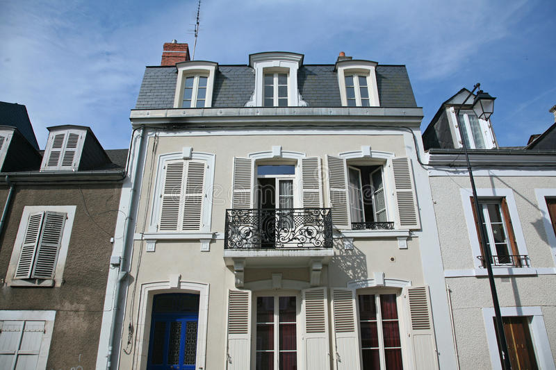 High Quality Download Small Town Apartment Building Stock Photo   Image Of Small,  French: 83518044