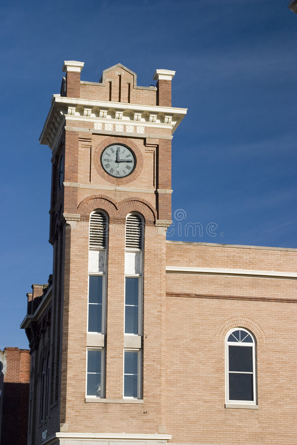 Small town clock stock photography