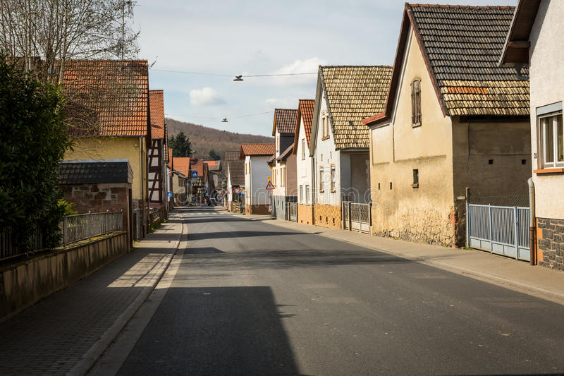 Small town in Europe stock image