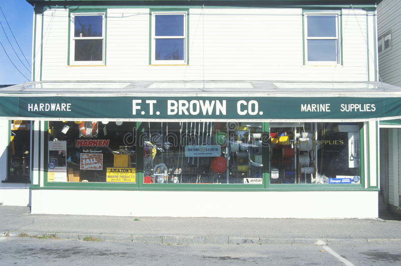 Small-town ijzerhandel royalty-vrije stock fotografie