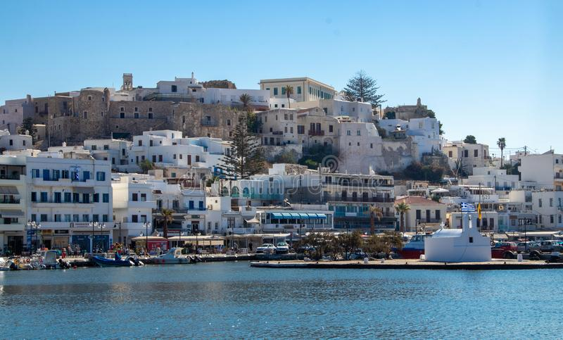 Small Town on the Island of Naxos. A small town on the island of Naxos, Greece royalty free stock images