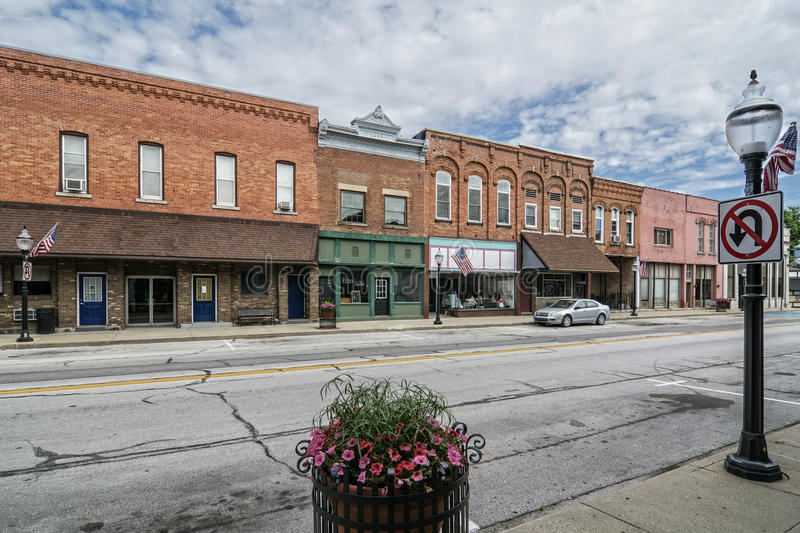 Small Town Main Street stock images