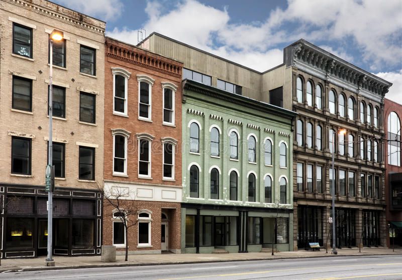 Small Town Main Street stock photography