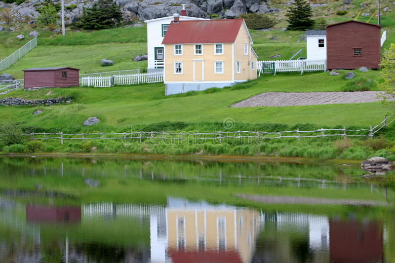 Small town Newfoundland royalty free stock photo
