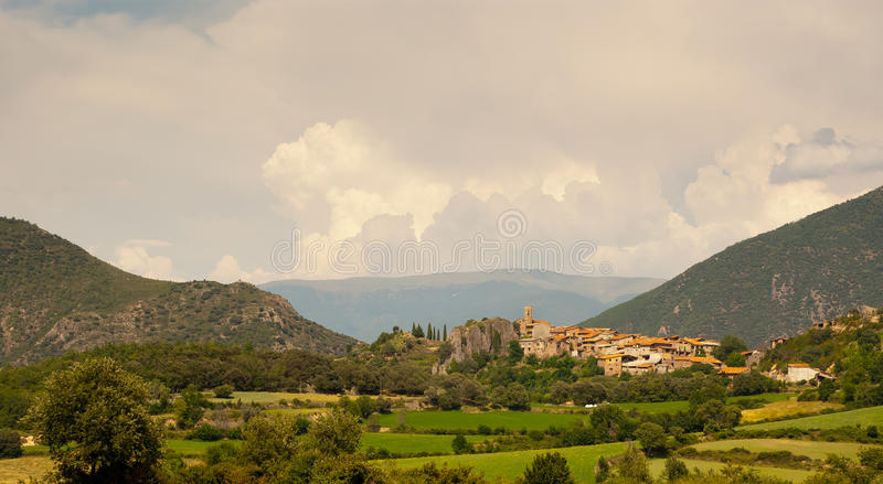 Download Small Town Of Peramea In Spanish Pyrenees Royalty Free Stock Photos - Image: 22719908