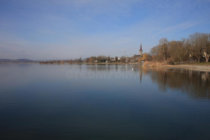 The small Town Radolfzell at Lake Constance stock photography