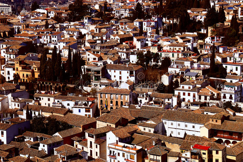 Small town in Spain. This samll town was photed on 20th. Feb. 2015, in Spain. But I forget it's really name stock image