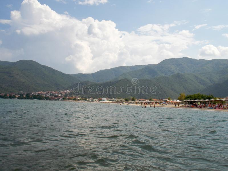 Small town of Stavros, Greece royalty free stock photos