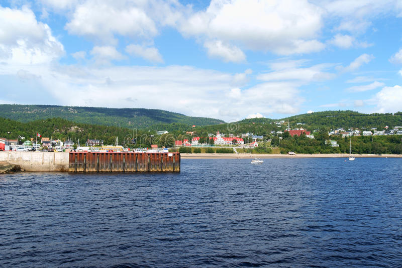 The small town of Tadoussac, Canada stock images