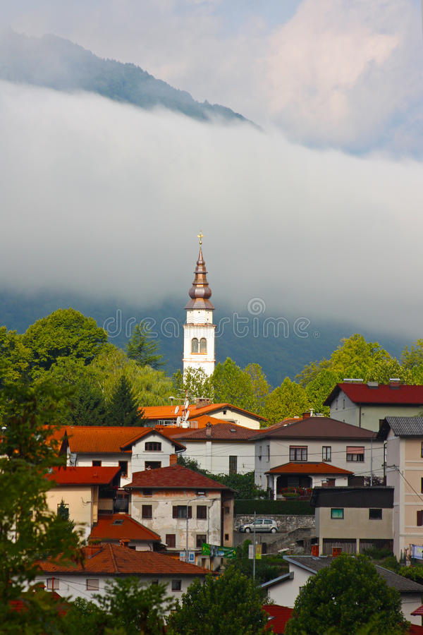 Free Small Town Tolmin In The Alps Stock Photography - 16129632