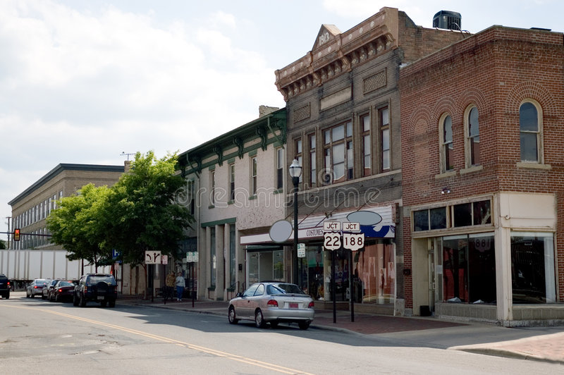 Small Town U.S.A. royalty free stock photography