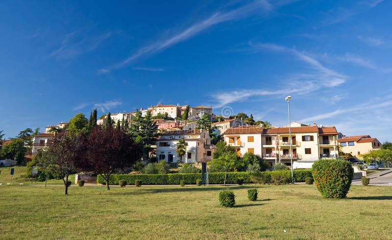 Small town Vrsar stock images