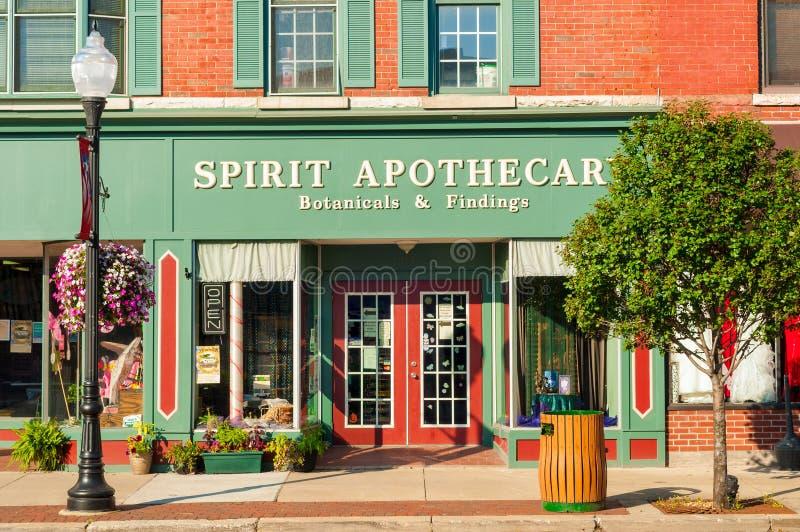 Small-town zaken royalty-vrije stock fotografie