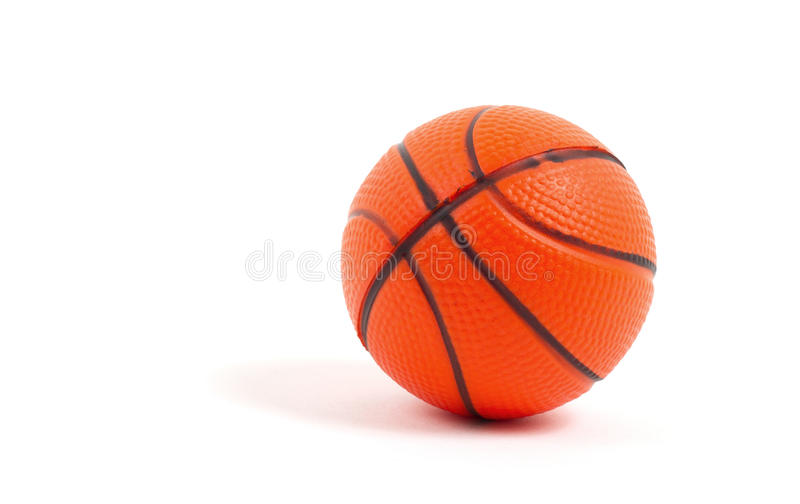Small Toy Basketball : Small toy basketball ball stock image of isolated