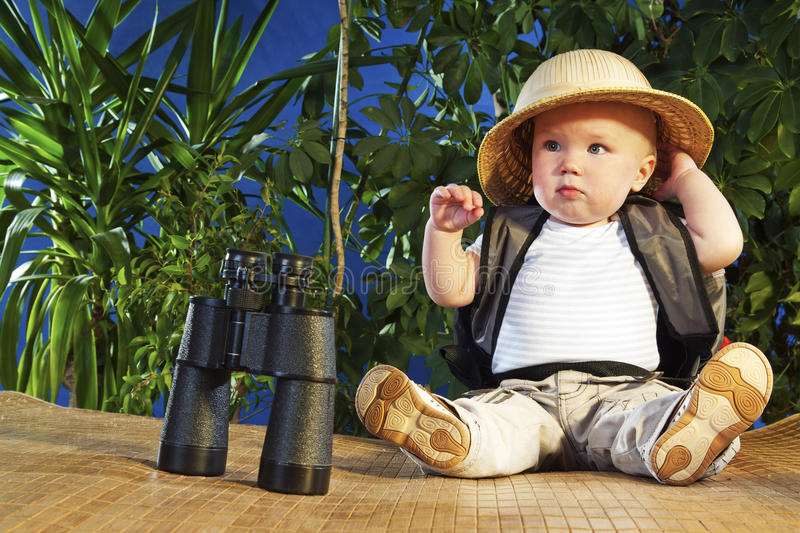 Small traveler royalty free stock images