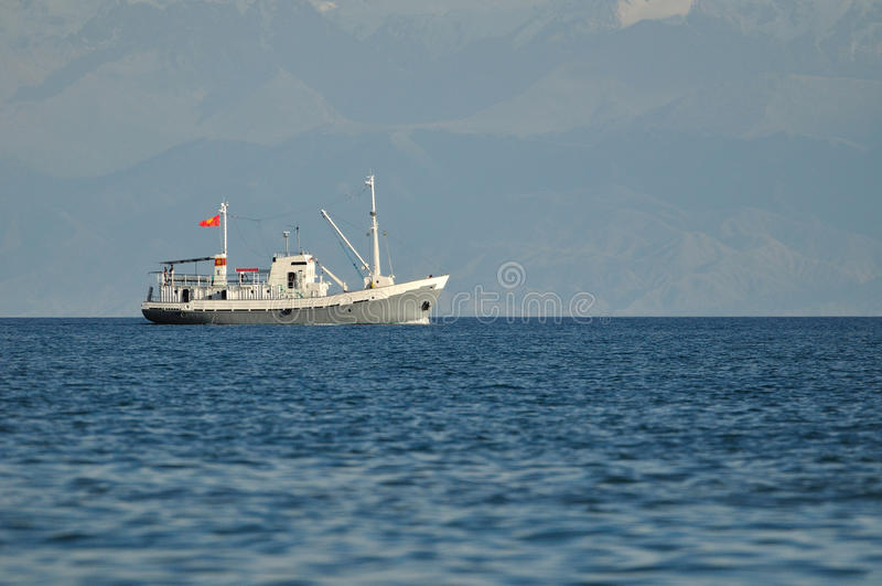 Small trawler stock photo