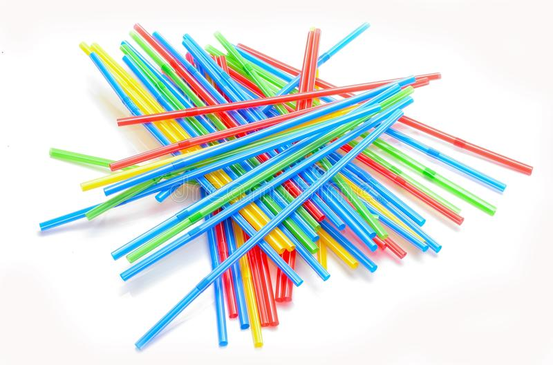 Small tubes, sticks for drinks stock photo